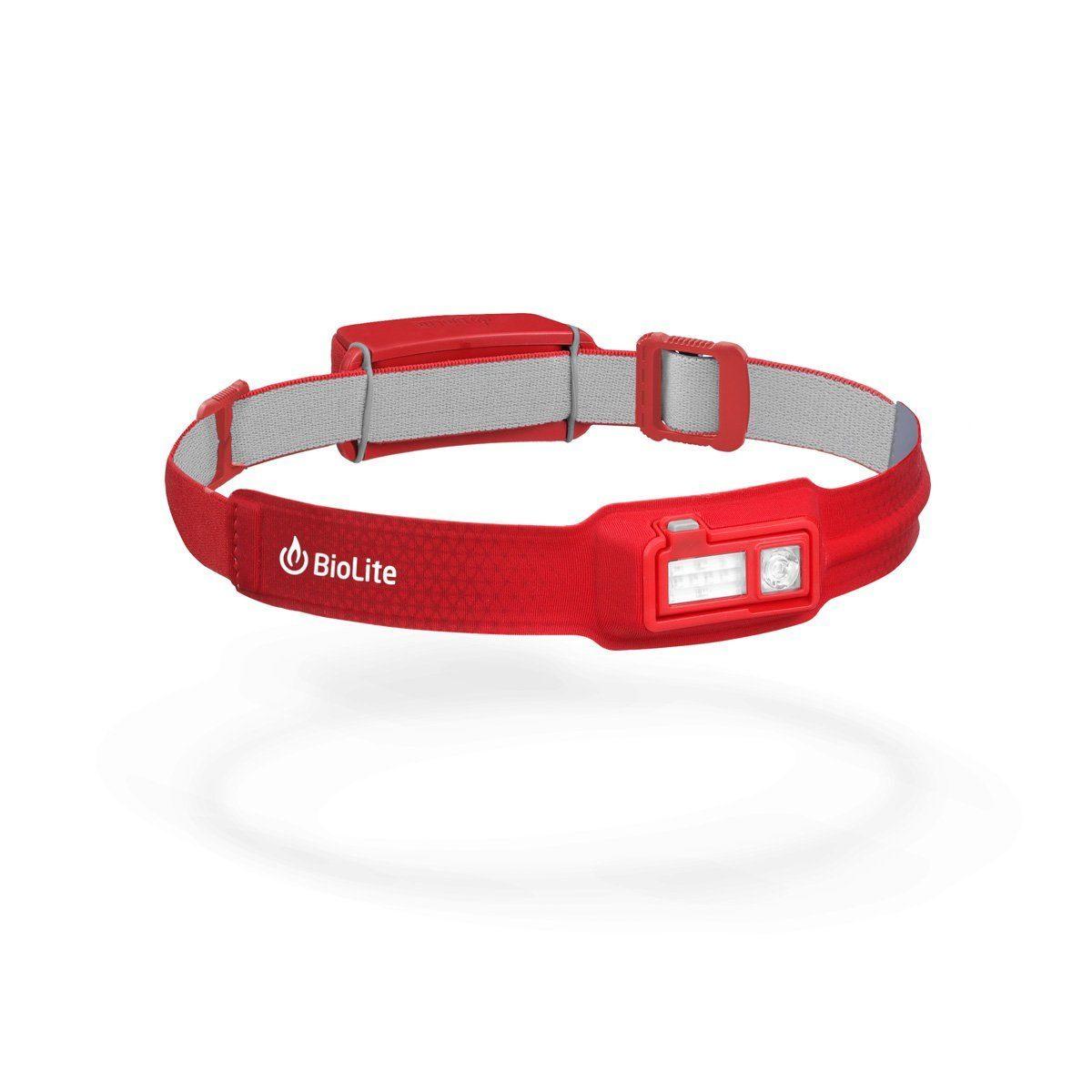 USB-laddad röd pannlampa