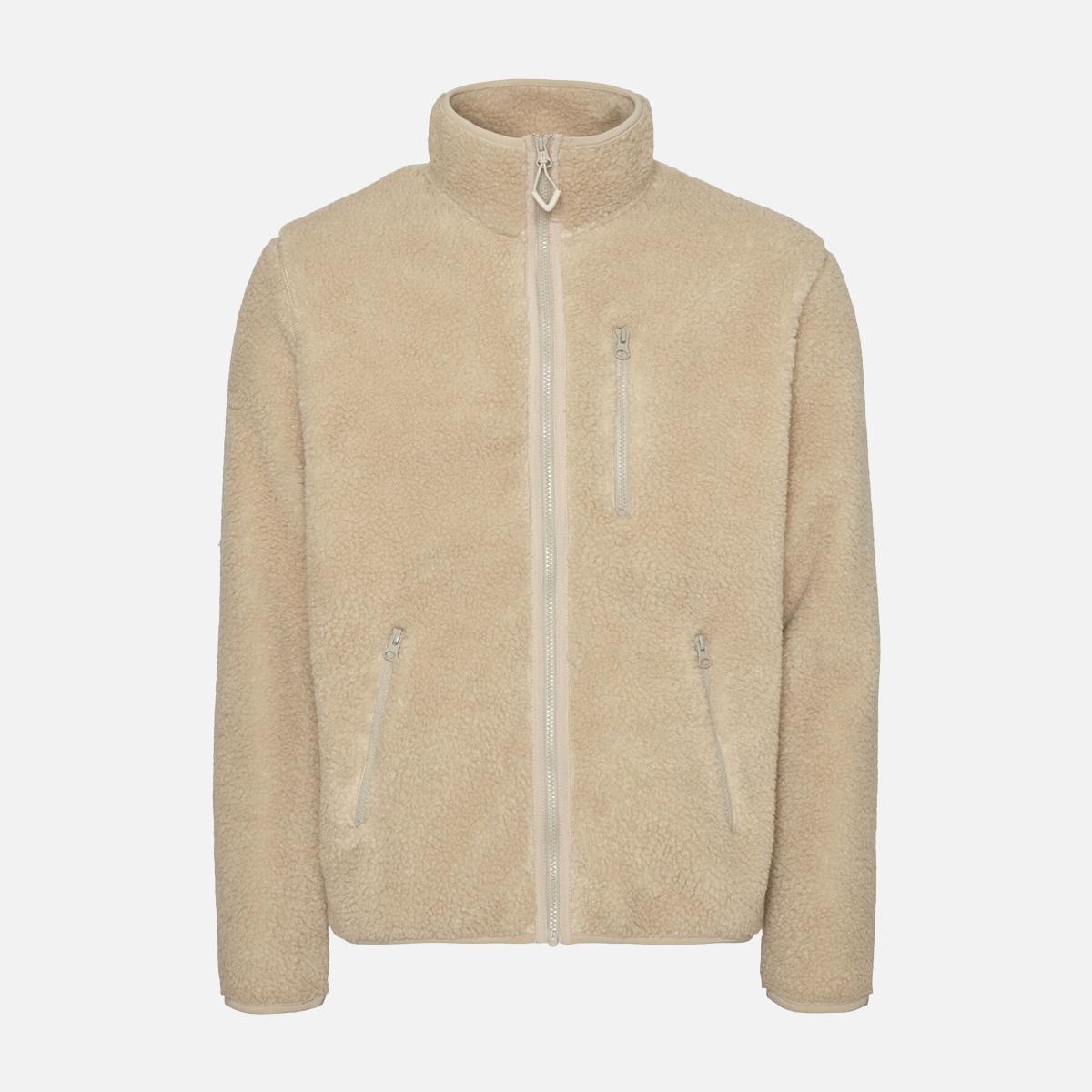 Fleece sweatshirt av återvunnet material med full-zip