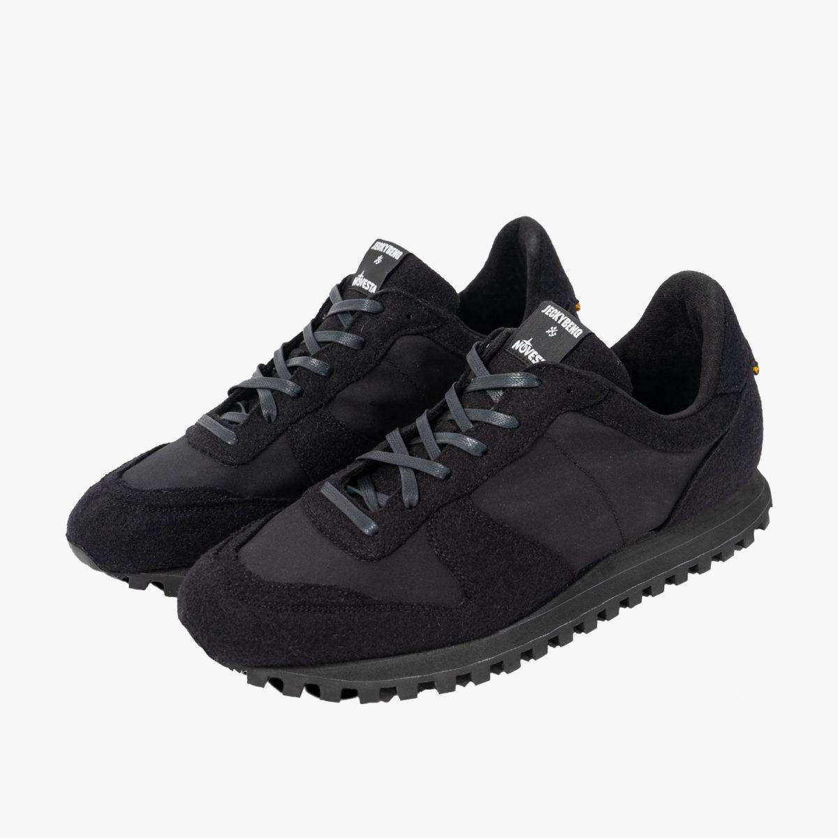 Jeckybeng´s Marathon Sneaker i ylle, ekologisk bomull & rågummi