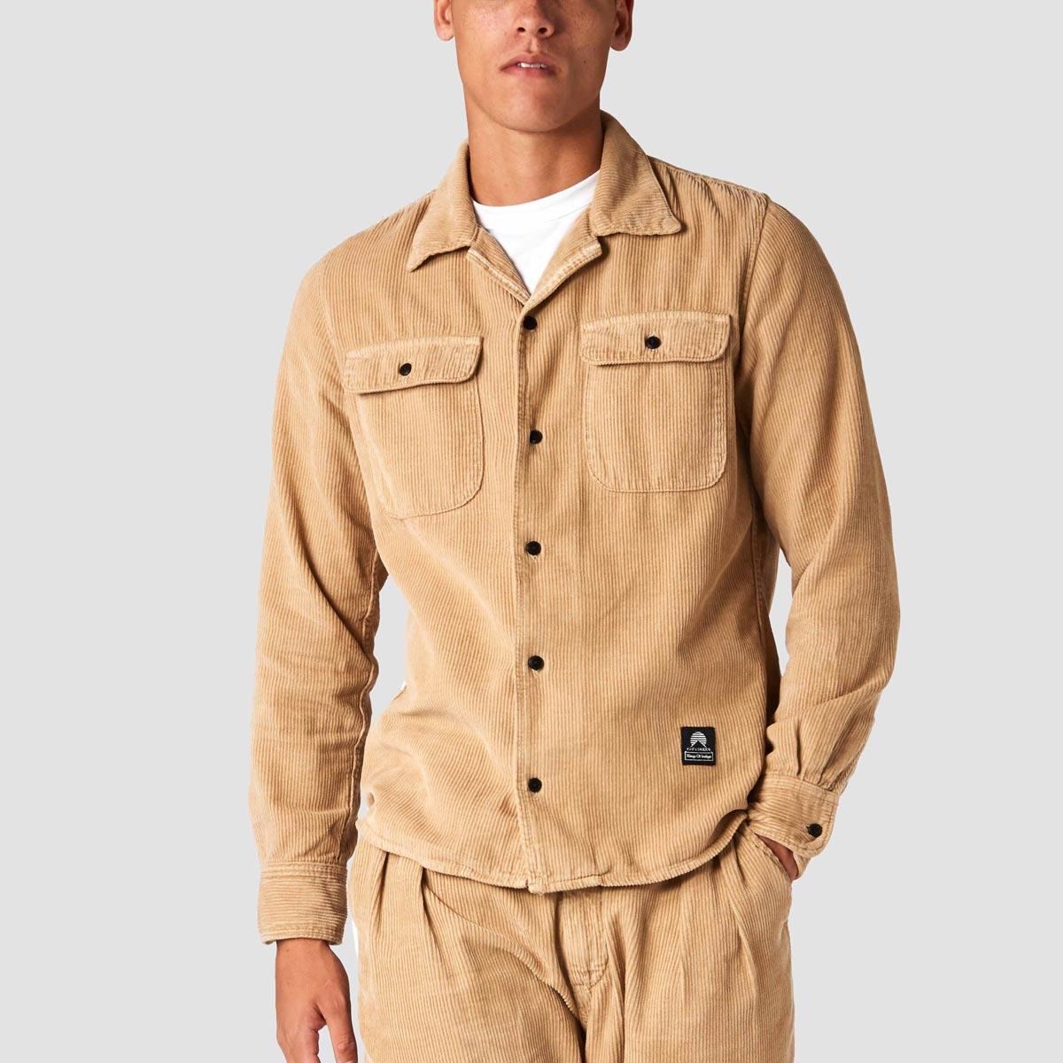 hakan camel hemp shirt koi hampaskjorta
