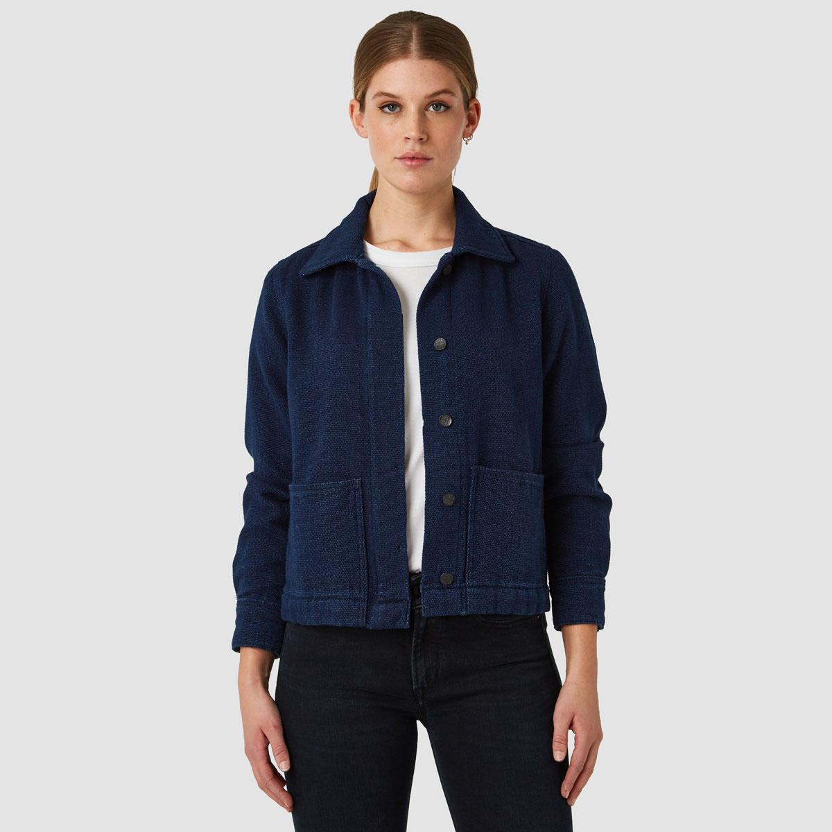 Workwear inspirerad damjacka i 100% ekologisk bomull