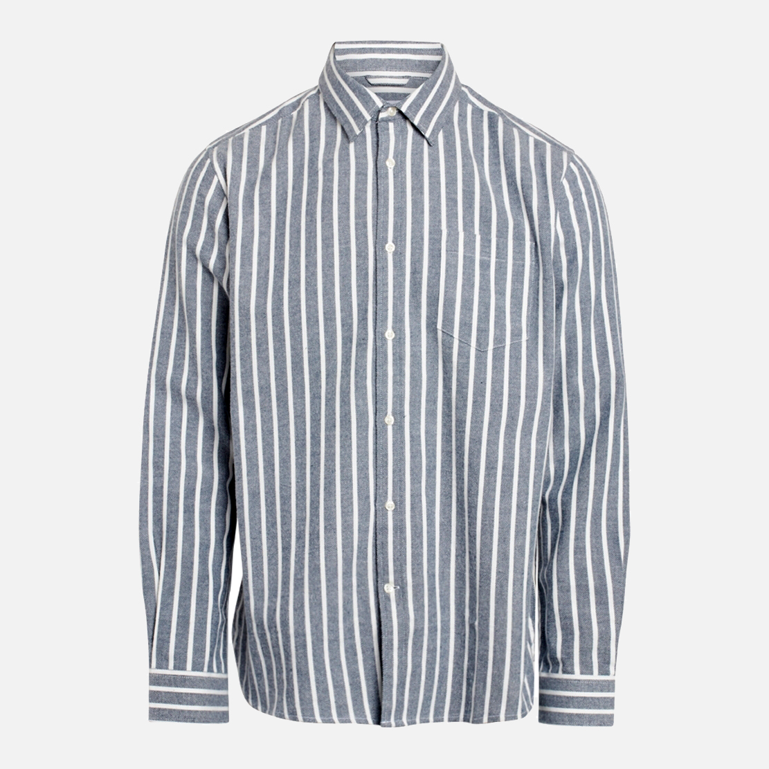 LARCH striped heavy flannel shirt