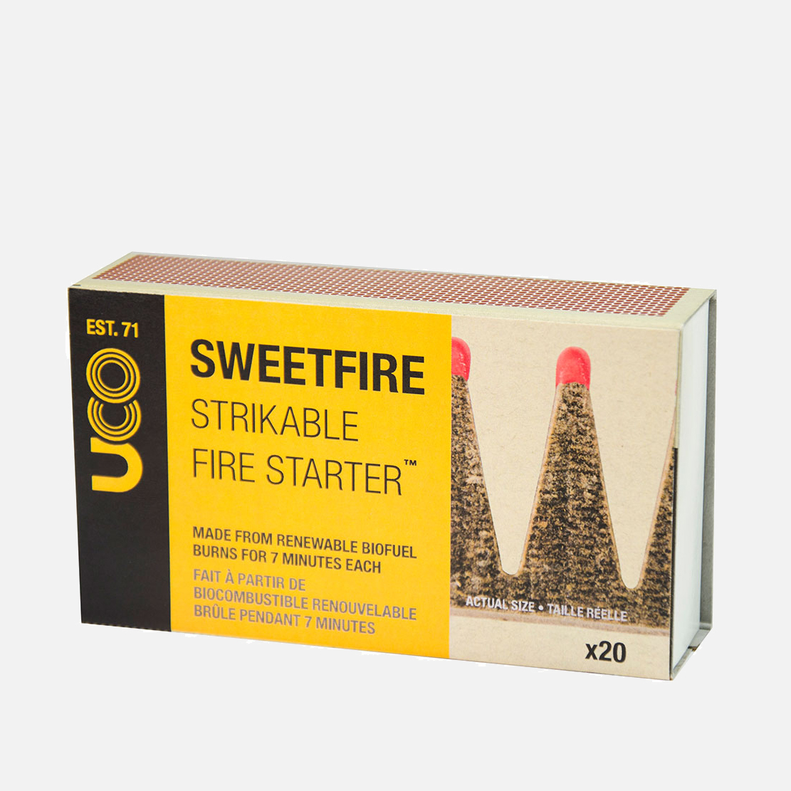 Braständare som funkar som tändstickor med 7 minuters brinntid.