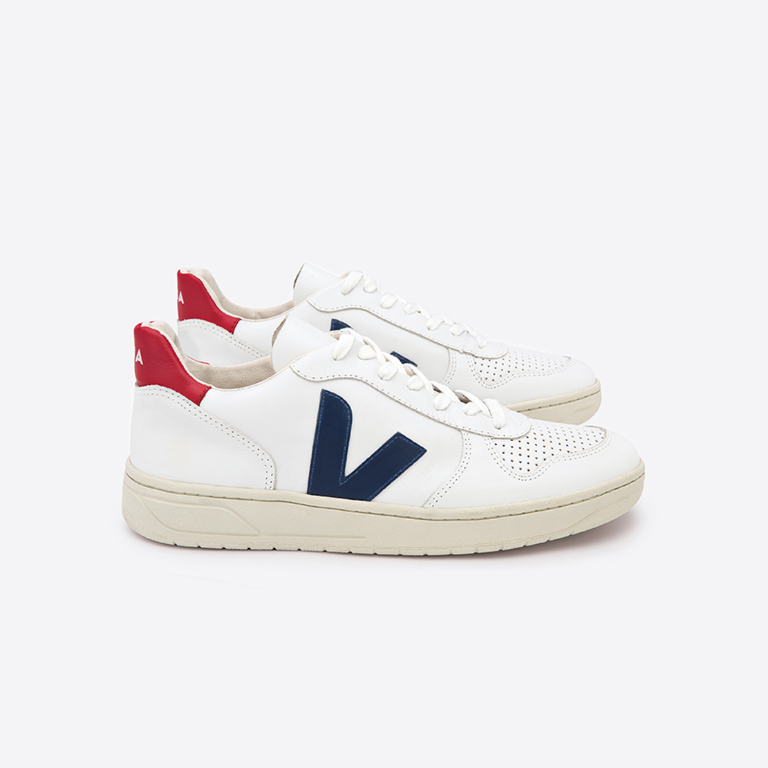 Veja V-10 sneaker - Extra White Nautico Pekin