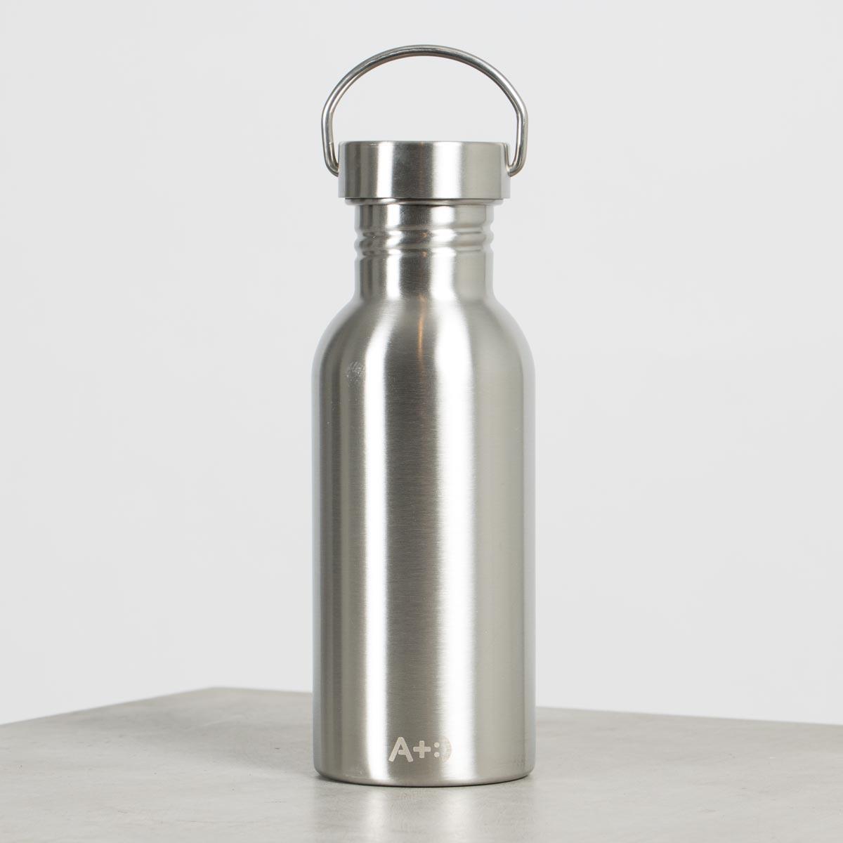 vattenflaska 500ml i rostfritt stål från A+:)