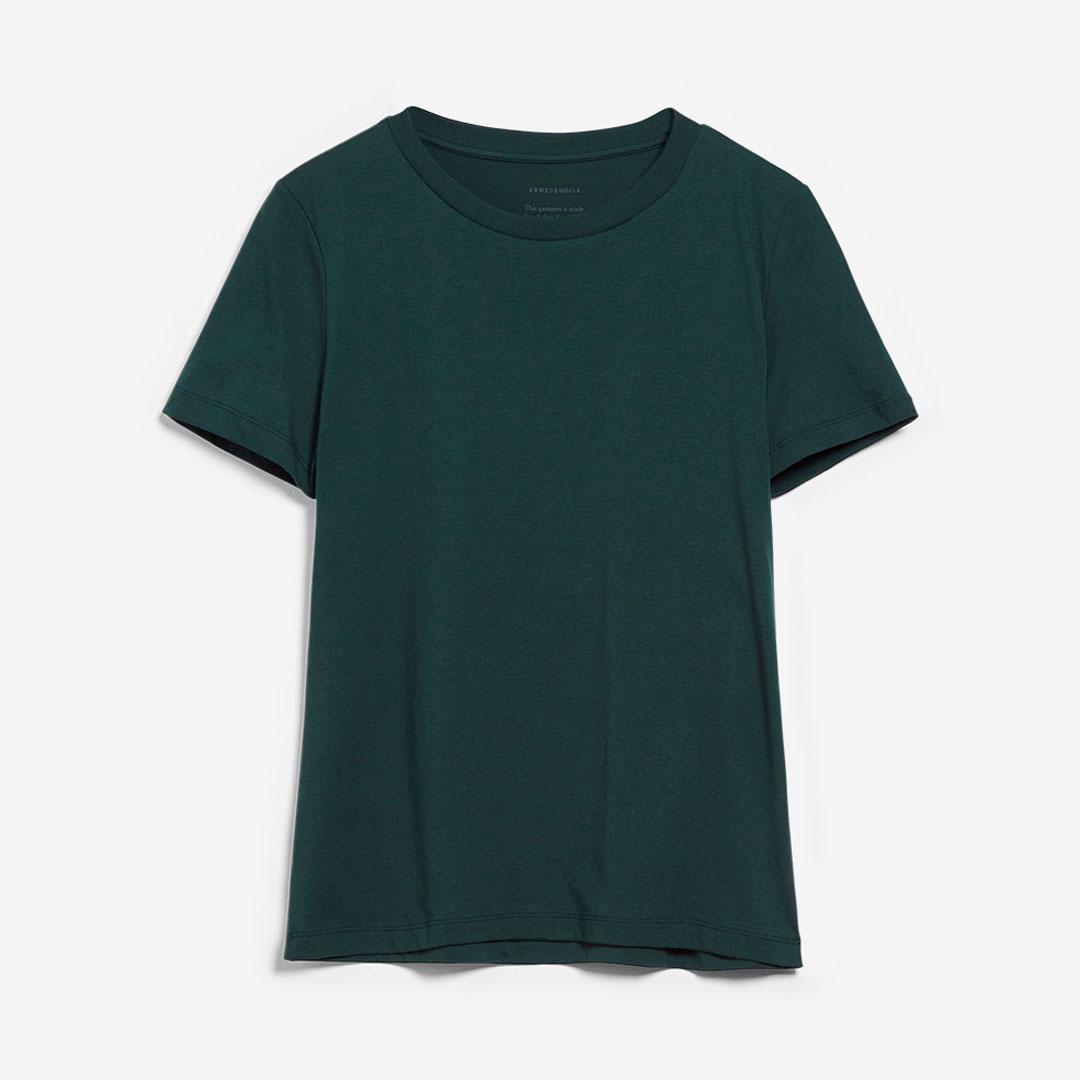 T-shirt från Armedangels i 100% ekologisk bomull. Lidaa Mossgrön