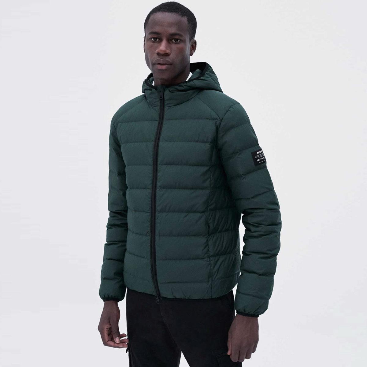 ecoalf dunjacka herr ASP jacker korean green återvunnen polyester