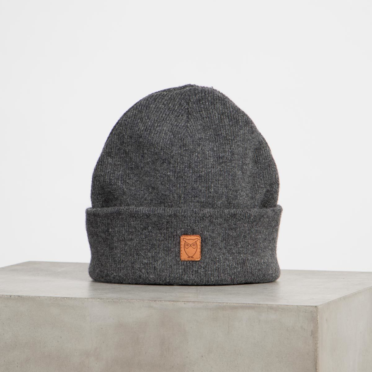 leaf organic wool beanie cots-certified knowledge cotton apparel