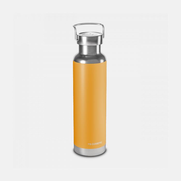 Dubbelväggig isolerad stålflaska med skruvkork för kalla & varma drycker.