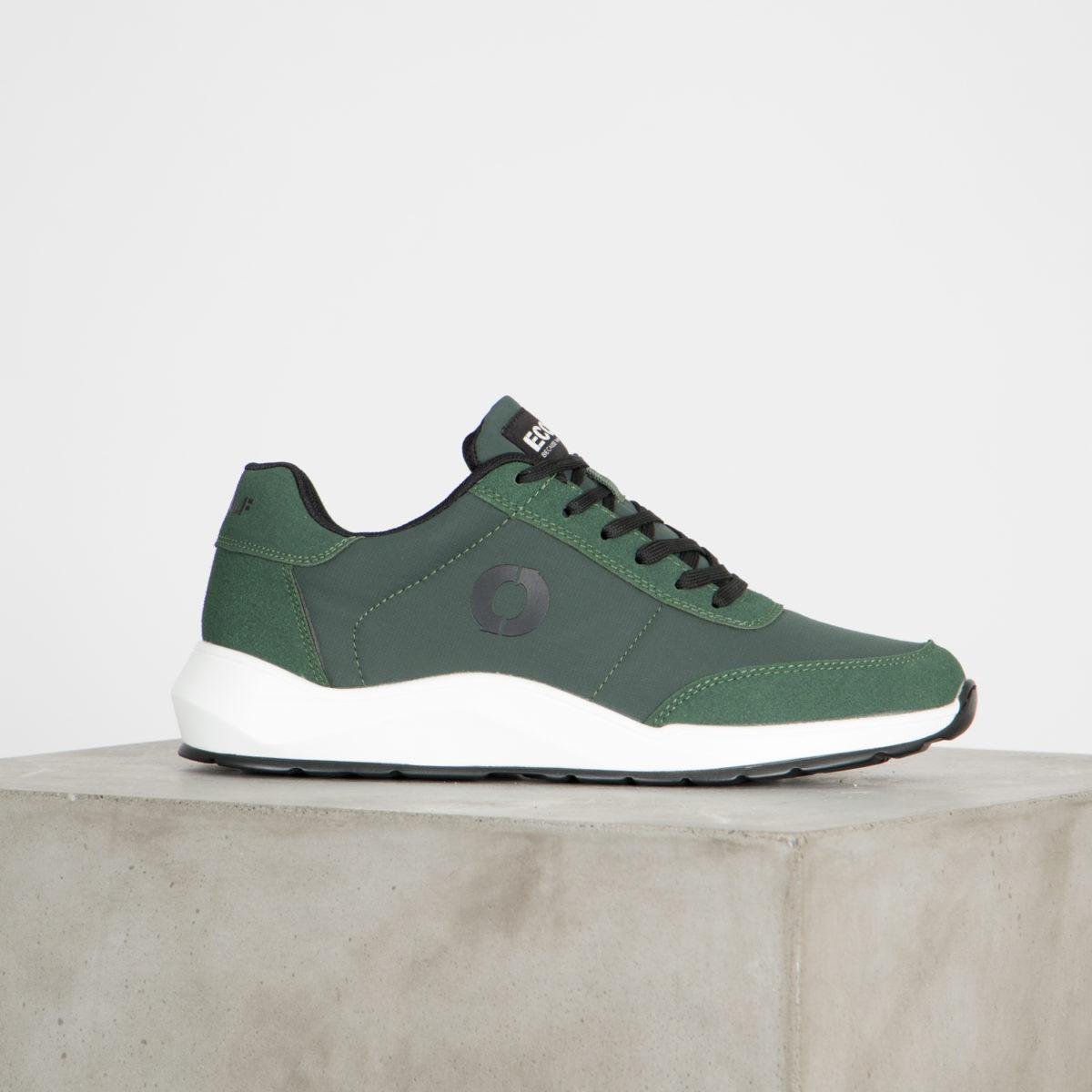 Veganska sneaker Anthon Urban green från Ecoalf tillverkade av återvunna material.