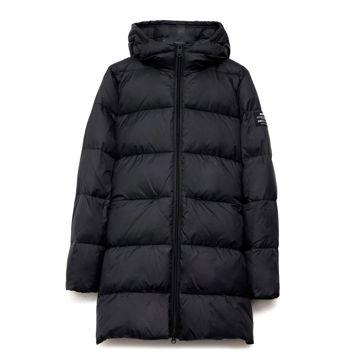 marangu coat black ecoalf