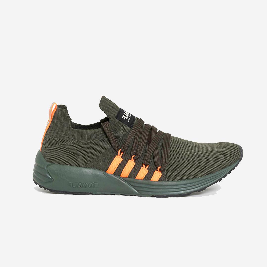 Vegansk sneakers från Ecoalf. Tillverkade av återvunna material. Bora Basic Sneaker Khaki.