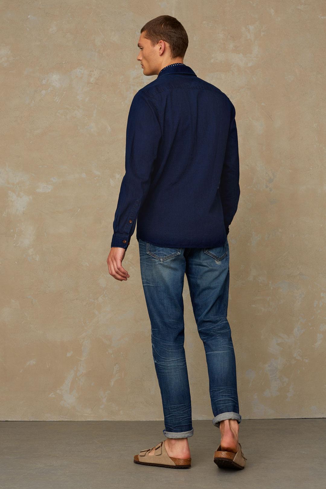 Modell: Enda Pocket Material: 100% ekologisk bomull Färg: Dark Denim Varumärke: KINGS OF INDIGO Certifiering: GOTS