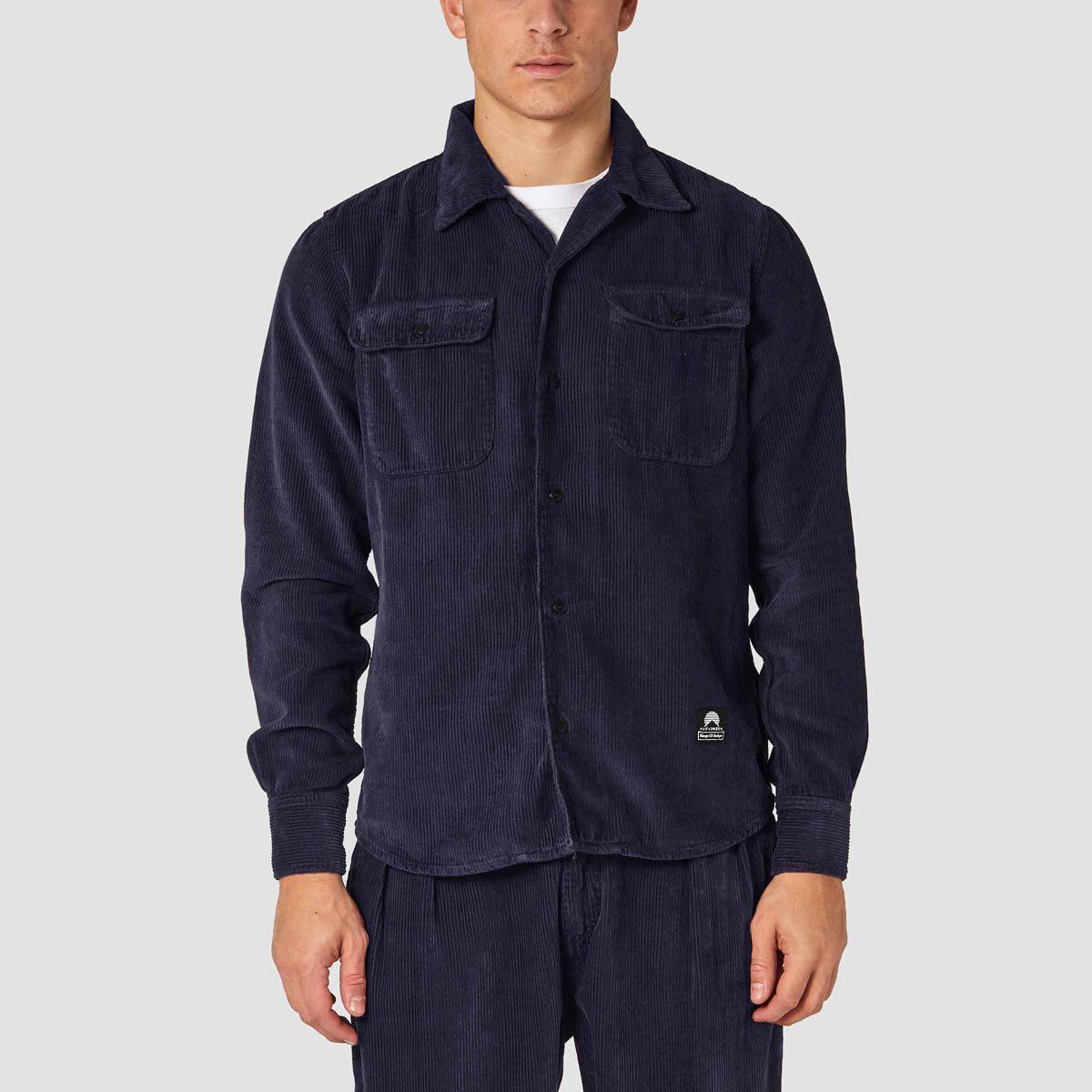 hampaskjorta i ekologiskt manchestertyg hakan navy kings of indigo K190753017