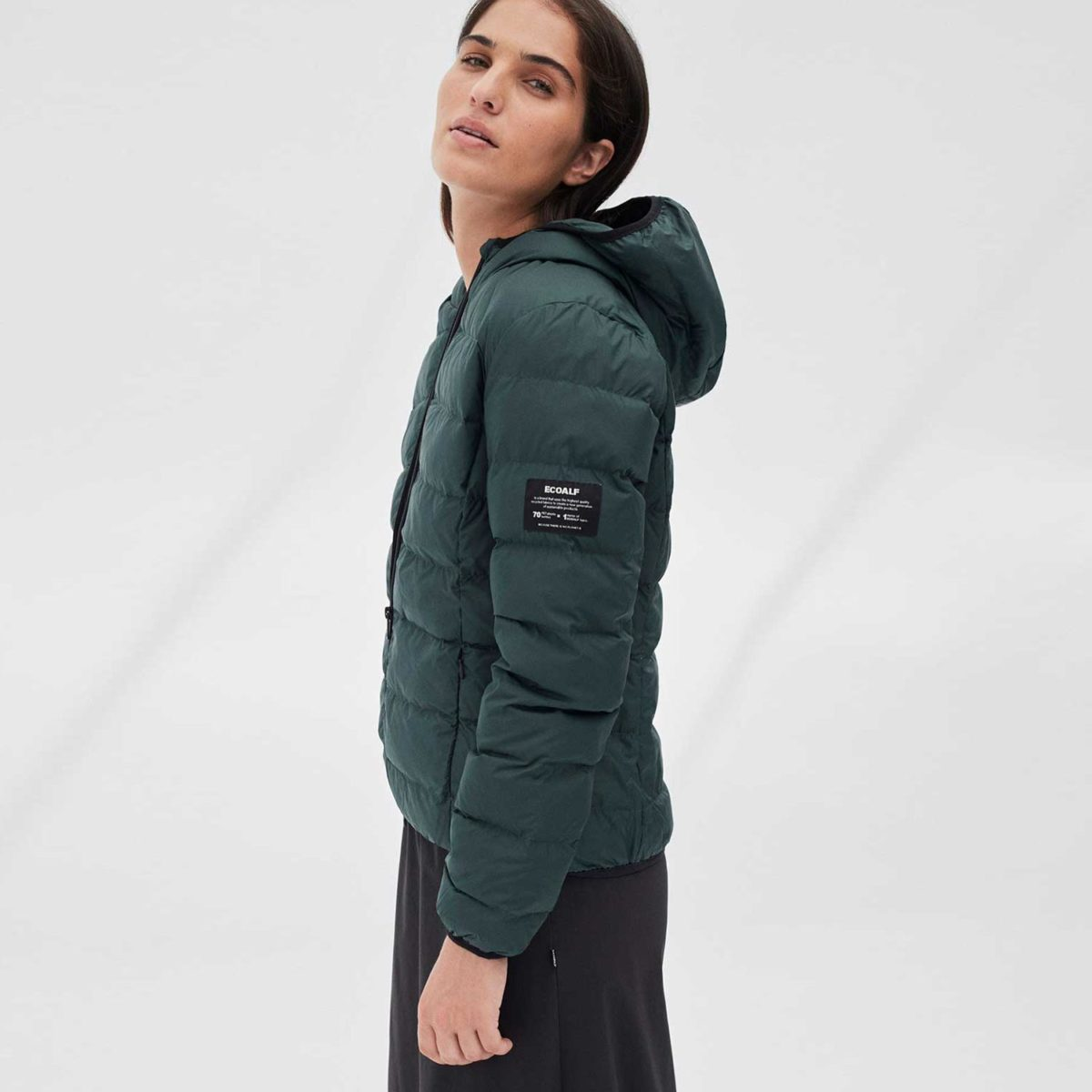 asp jacket ecoalf womens korean green