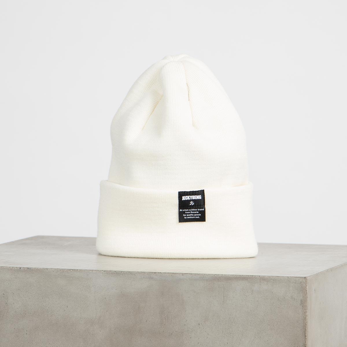 jeckybeng merino wool beanie off white