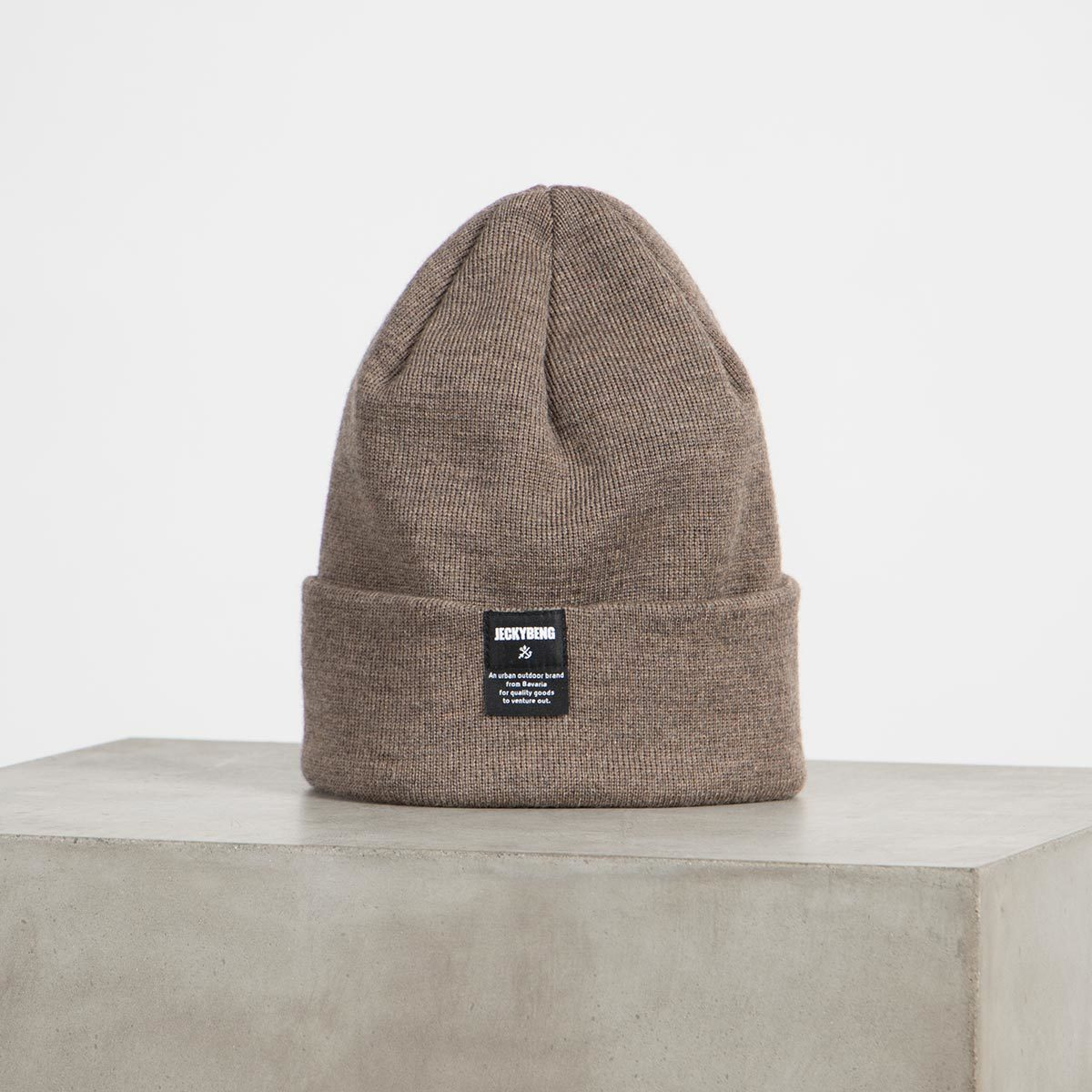 jeckybeng the merino wool beanie taupe brown