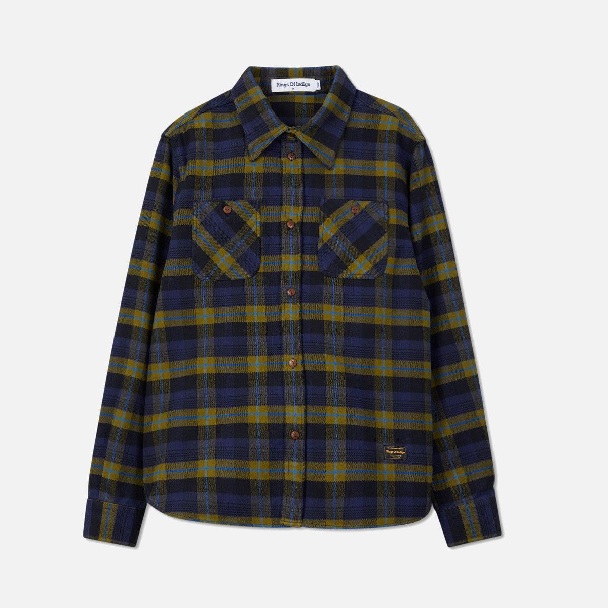 Ekologiska flanellskjorta i kraftig borstad bomull