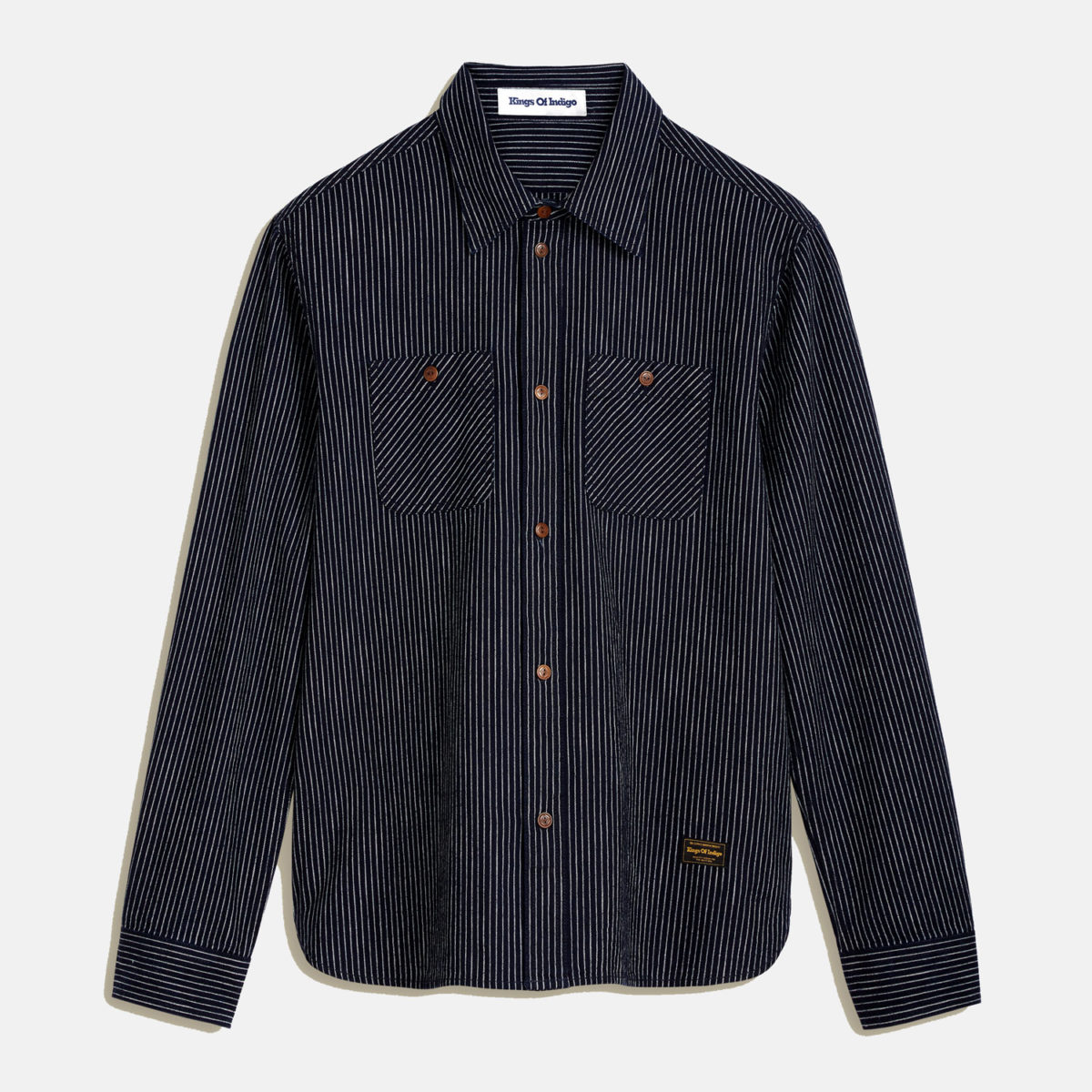 Rejäl skjorta i 100% GOTS-certiferad bommullskanvas.
