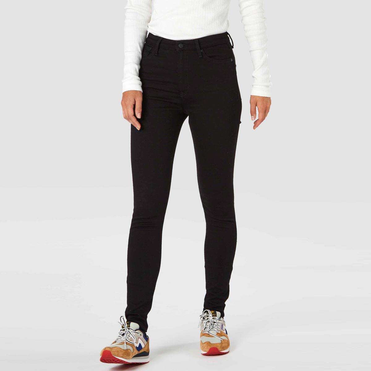 svarta jeans ekologisk bomull skinny hog midja