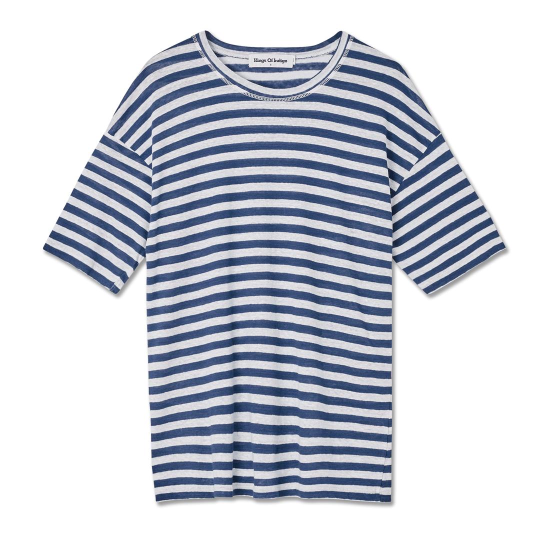 randig lin t-shirt