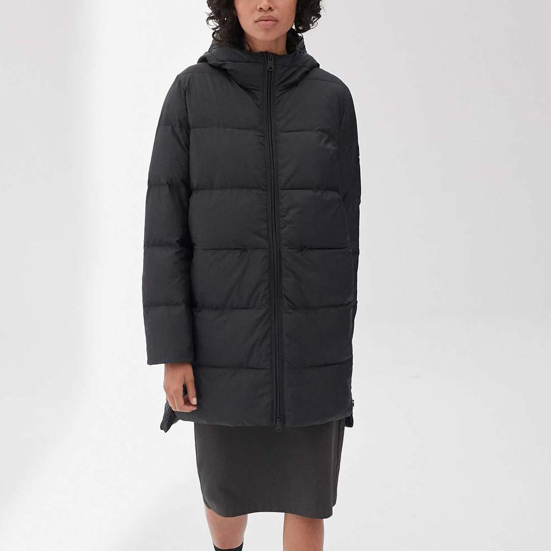 jacka återvunnen polyester marangu coat ecoalf black