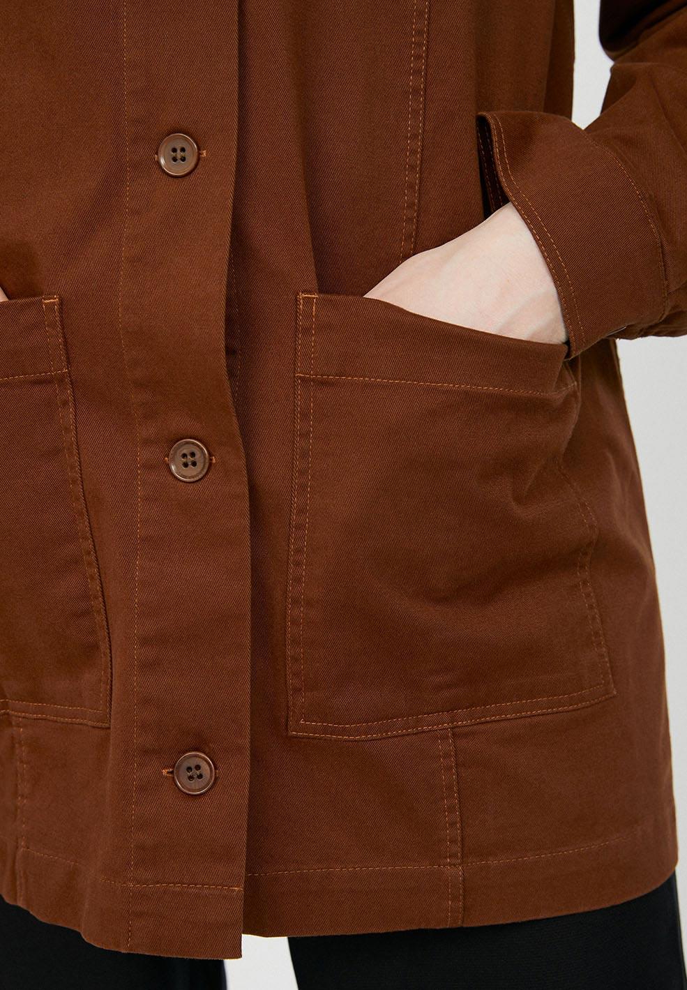 Mirjaam Overshirt Jacket Cacao - ARMEDANGELS