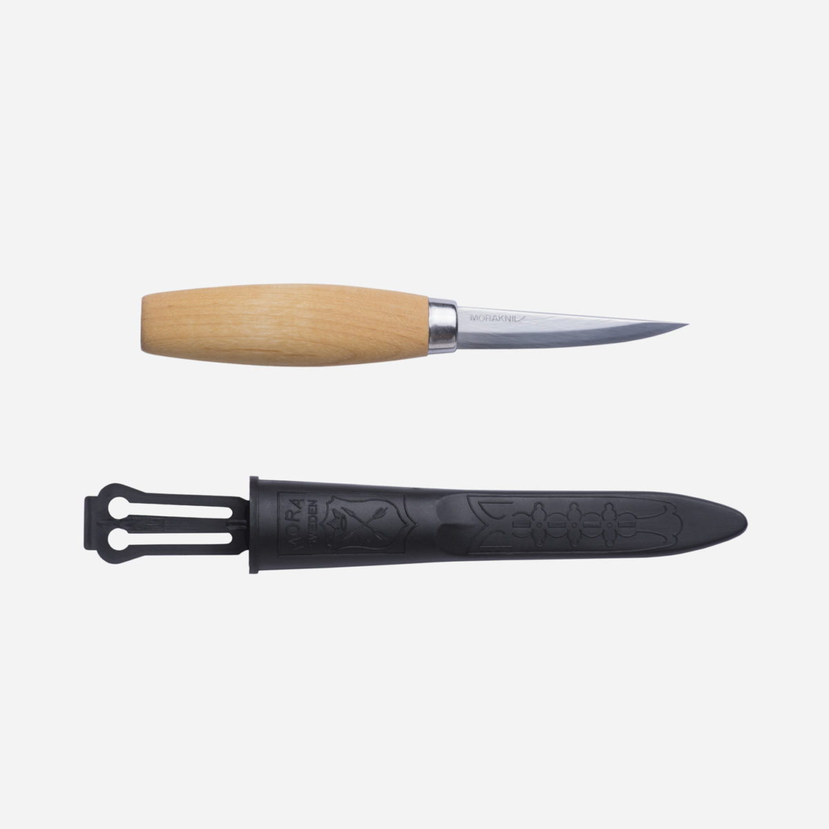 Tål & slöjdkniv med litelängre blad i kolstål