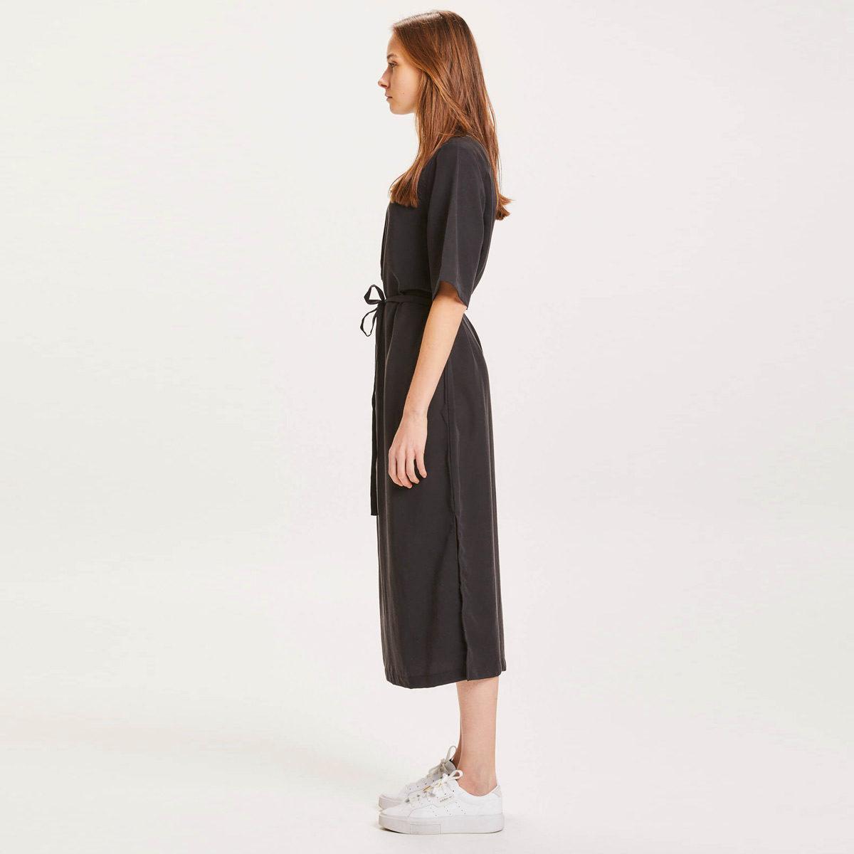 Klänning lång svart Tencel