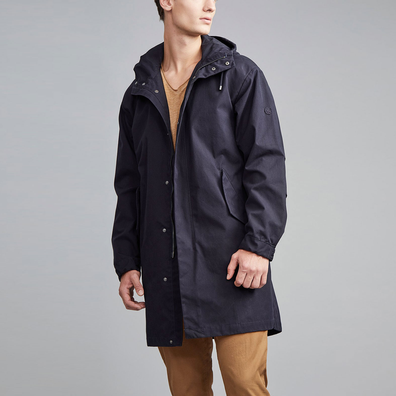 Stockton Parka Navy Waxed LANGERCHEN