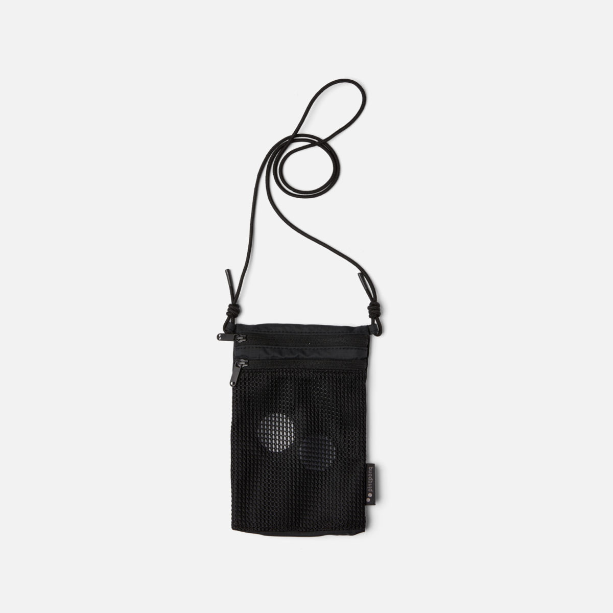 Pinqponq Flak Hip Bag Small Black Vegan