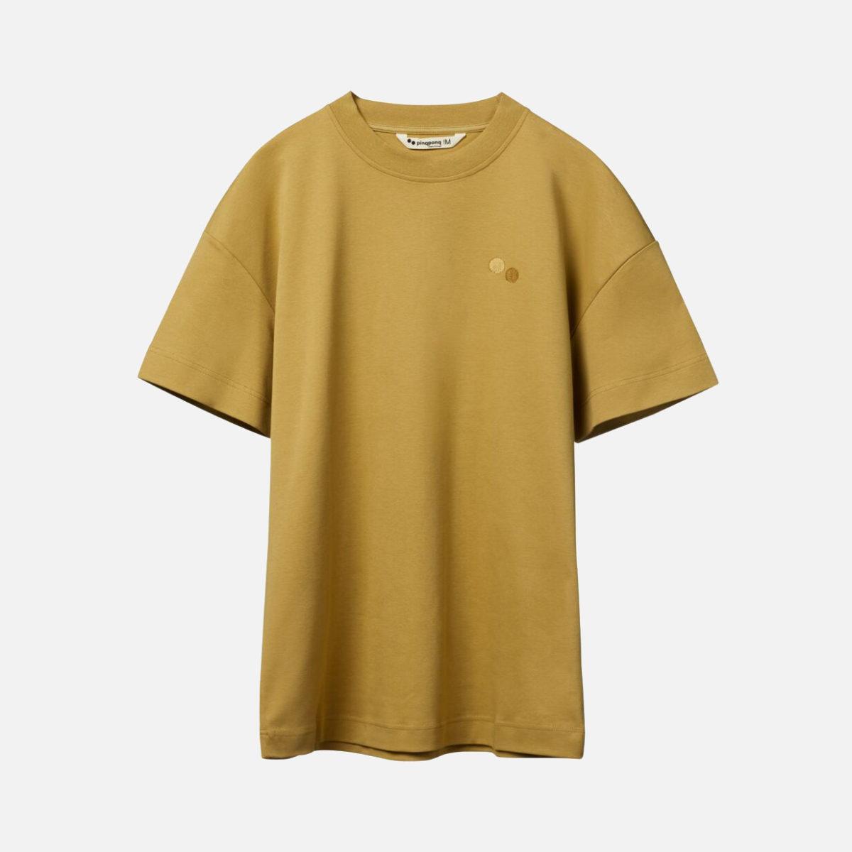 T-shirt i 100% ekologisk bomull. GOTS-certifierad PINQPONQ Bark Beige