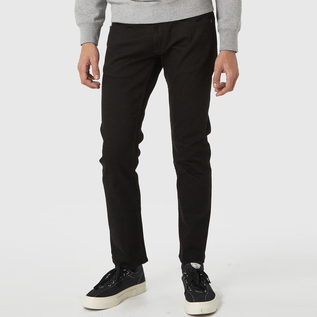 Ryan Stay Black Rinse - Svarta Veganska Jeans i ekologisk & återvunnen bomull