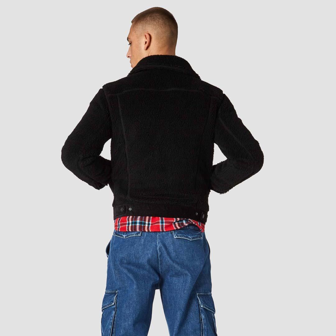 sanjo black koi fleece jacket