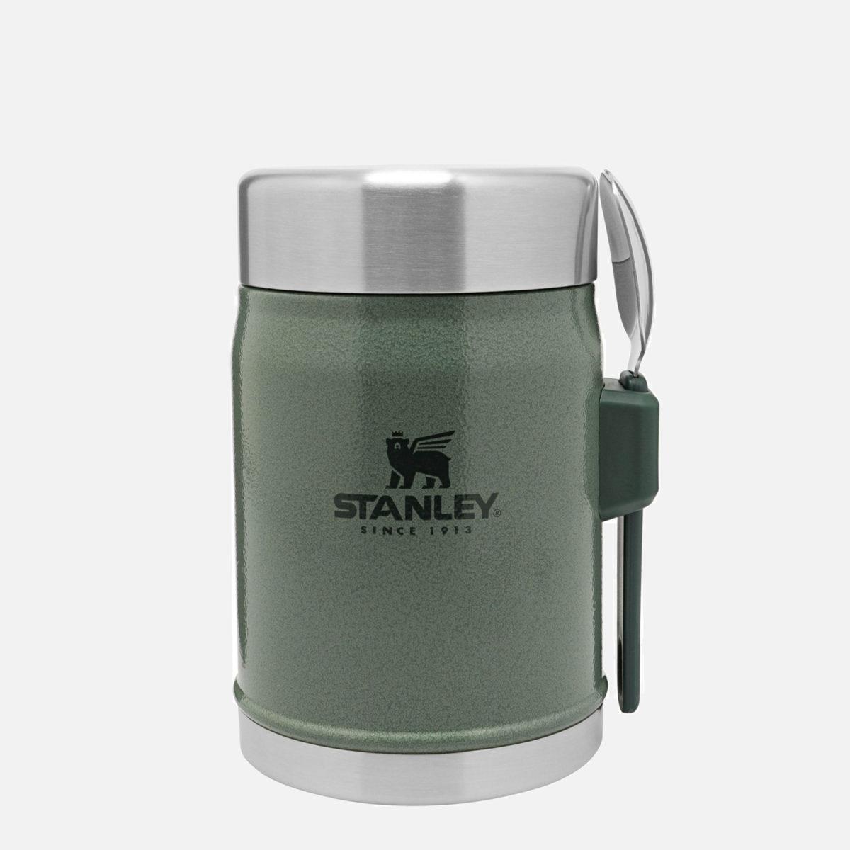 Mattermos från Stanley i 18/8 rostfritt stål med tillhörande spork-bestick