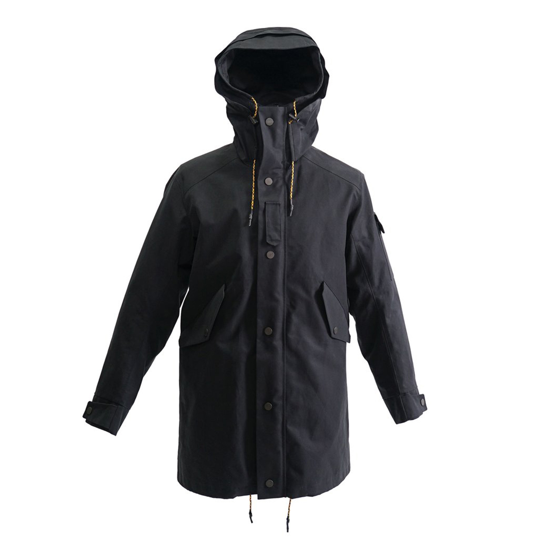 jeckybeng the jacket black outdoor organic cotton
