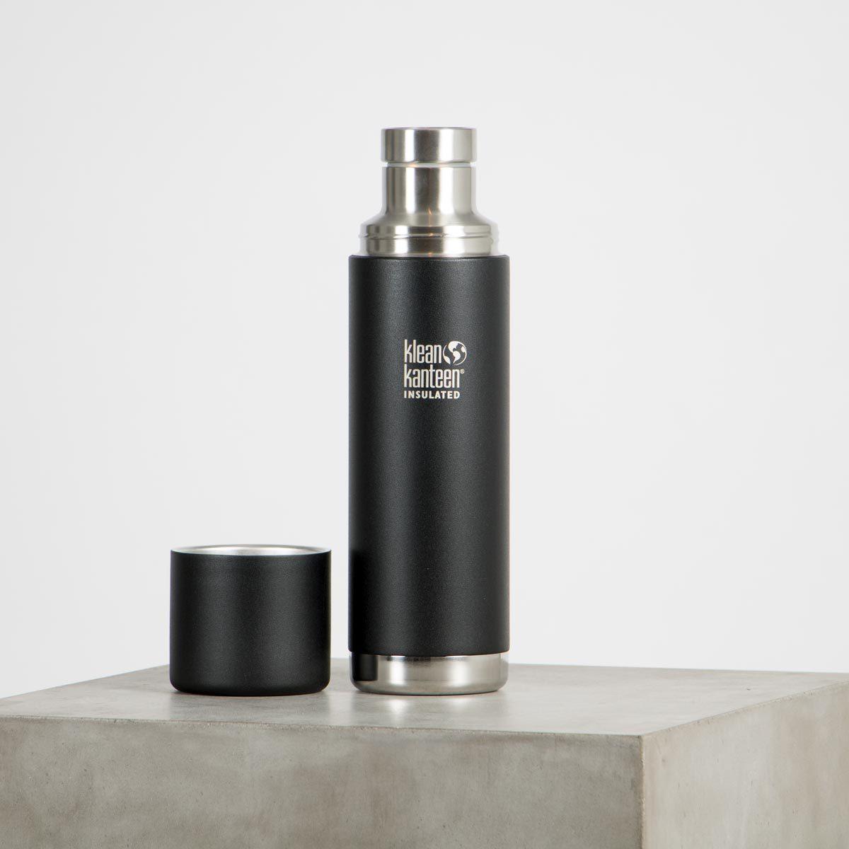 TKPro 1000ml Shale Black plastfri termos 18/8 rostfritt stål