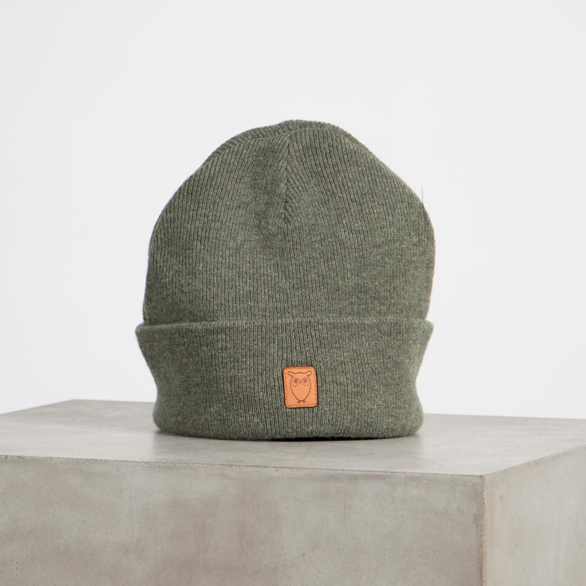 leaf organic wool beanie - Knowledge Cotton Apparel - Ekologisk yllemössa - GOTS