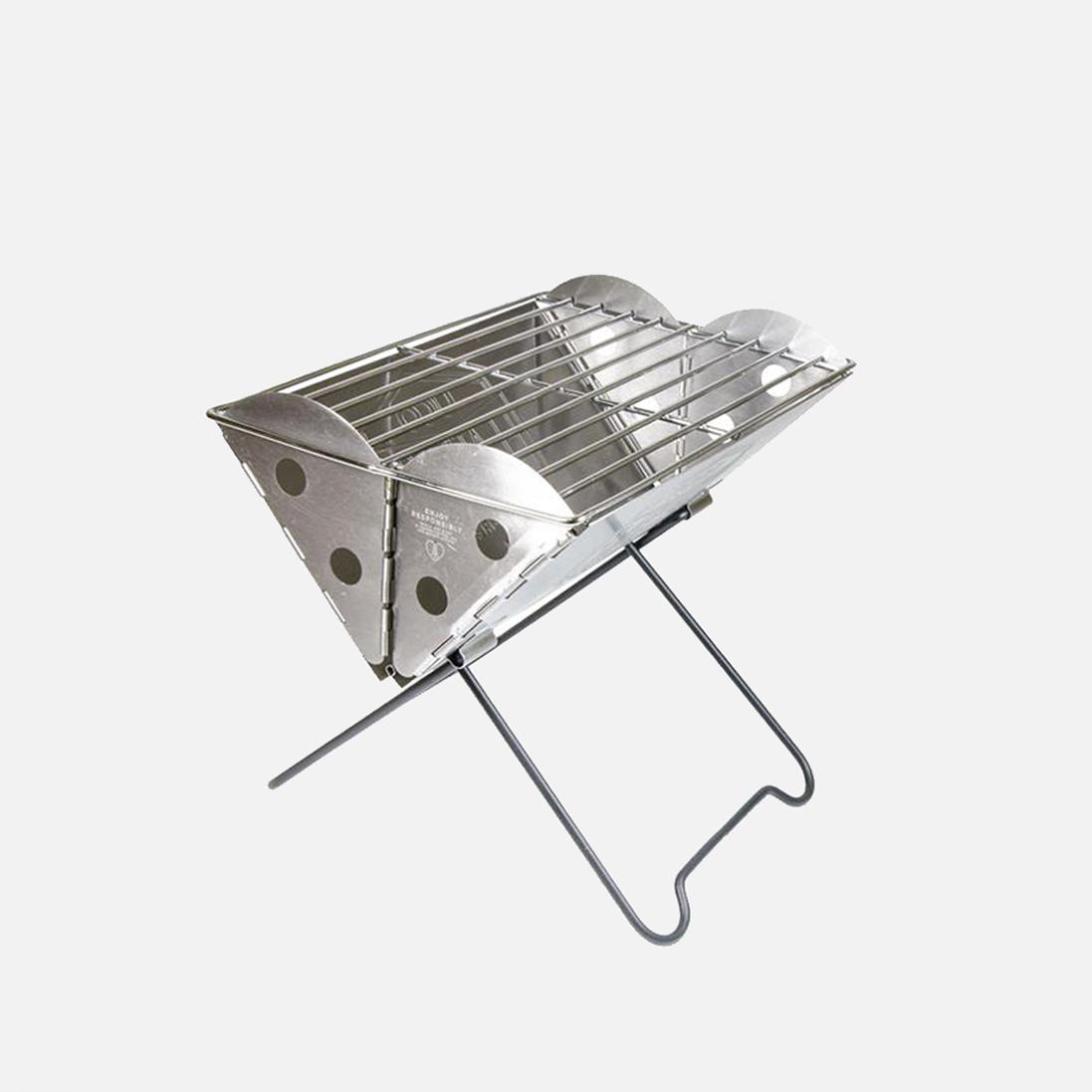 Bärbar grill & eldstad som du kan vika ihop