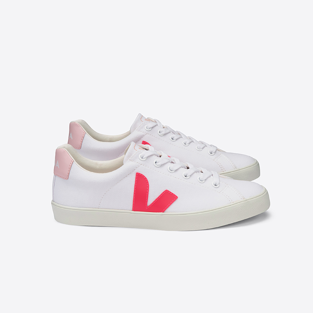 Esplar Canvas White Rose Fluo Women´s VEJA